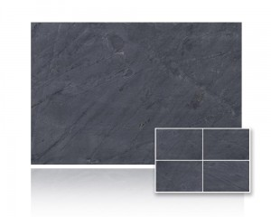 Łupek China Black Slate Natural 30x60 gr. 12mm